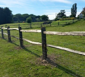 Chestnut post and rail fencing Thumbnail