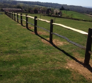 Chestnut post and rail fence Thumbnail
