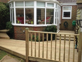 Decking with a conservatory  Thumbnail